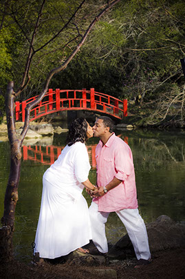 Engagemnt picture at Birmingham, Alabama Botanical Gardens.