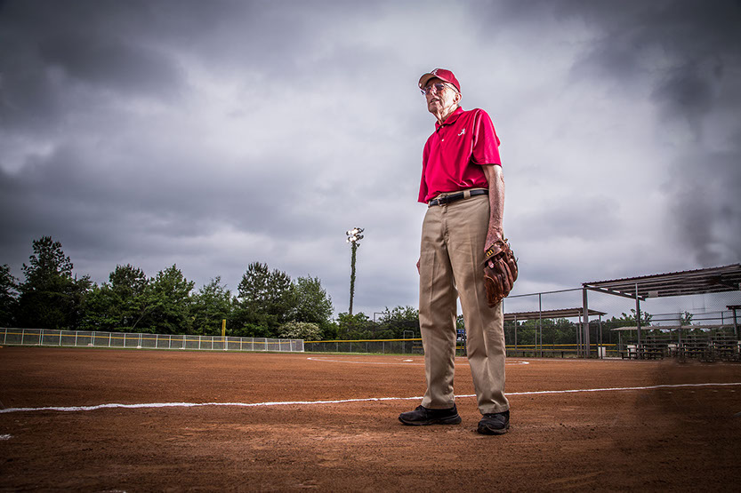 The West Alabama Softball Hall of Fame member Paul Morrison taken by a Tuscaloosa photographer.